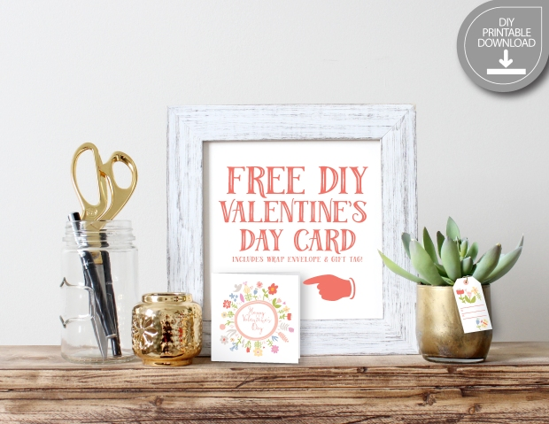 Valentine Flora FREE Printable DIY-01